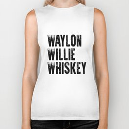 Waylon Jennings Willie Nelson Tennessee whiskey cowboy outlaw biker tee texas Biker Tank