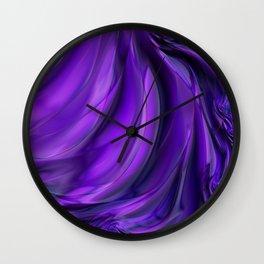 Purple Drapes Wall Clock