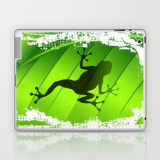 Frog Shape on Green Leaf Laptop & iPad Skin
