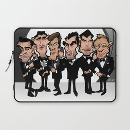 Faces of Bond Laptop Sleeve