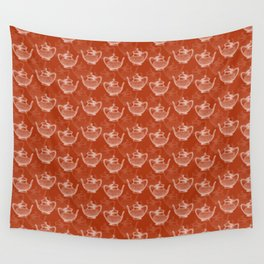 Vintage Teapot Pattern Wall Tapestry