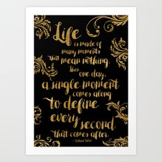 An Ember In The Ashes Quote Design in Gold Foil Art Print