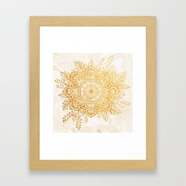 Queen Starring of Mandala-Gold Sunflower II Framed Art Print
