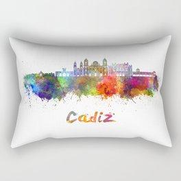 Cadiz skyline in watercolor Rectangular Pillow