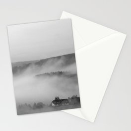 Landscape with fog Stationery Cards