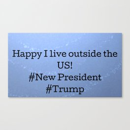 New President Canvas Print