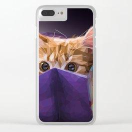 Cat in bag Clear iPhone Case