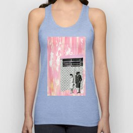 The Pink House Unisex Tank Top