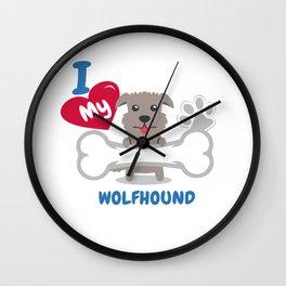 IRISH WOLFHOUND - I Love My IRISH WOLFHOUND Gift Wall Clock