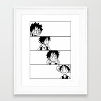 luffy Framed Art Prints featuring Luffy by thetinman