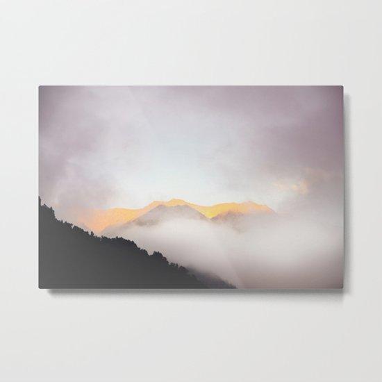 Pastel Mountains #photography Metal Print