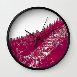 A red velvet myst fogged his eyes but they were evergreen Wall Clock