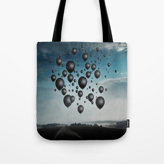 In Limbo - black balloons Tote Bag