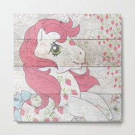 G1 my little pony Sugarberry Metal Print