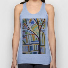 Abstract Art Original Landscape Painting ... The Sound of Sunshine Unisex Tank Top