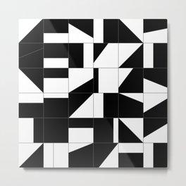 AGBW - Abstract, Geometric, Black & White Metal Print