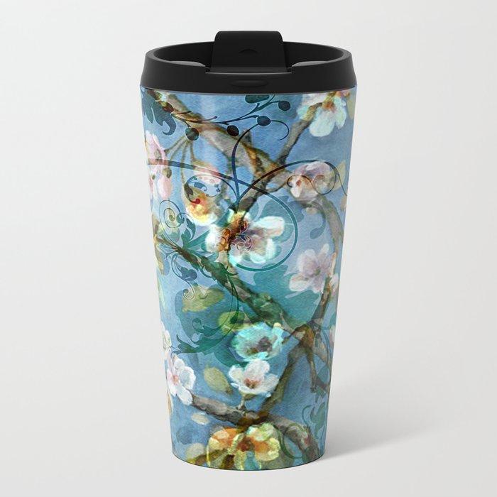 Fantasy cherry blossom tree Metal Travel Mug