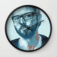 dallas Wall Clocks featuring Dallas Green by Copper Crown Art