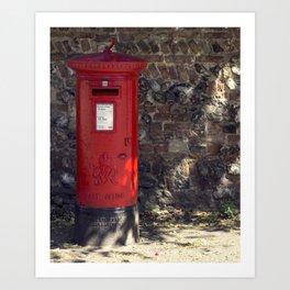 The Post Box Art Print