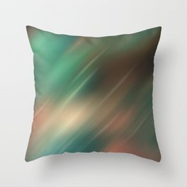 Turquoise brown blurred background Throw Pillow