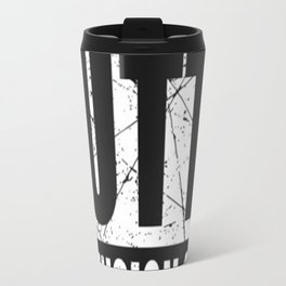Rick and Morty - Straight Outta Dimension C-137 distressed T-Shirt Travel Mug