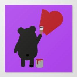 Black Bear painting Canvas Print