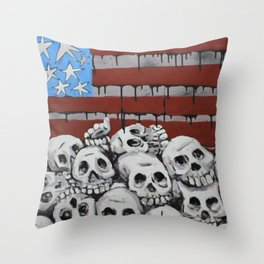 these colors run Throw Pillow
