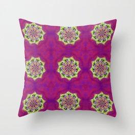 Eye Mandala Magenta Throw Pillow