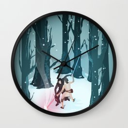 Rey vs. Kylo Ren Isometric Poster Wall Clock