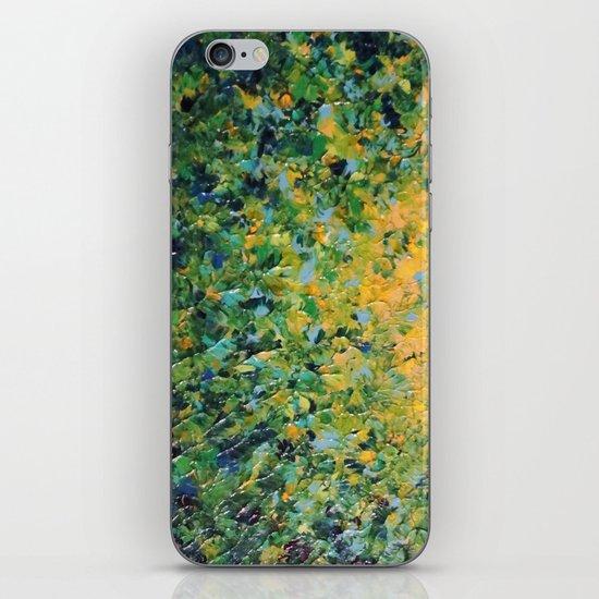 IRISH SUNRISE - Beautiful BOLD Lime Kelly Forest Green Sunrise Sunset Abstract Nature Painting iPhone & iPod Skin