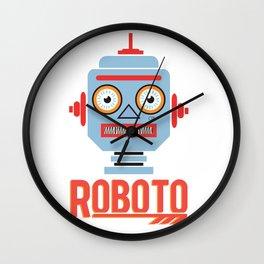Roboto Head Wall Clock