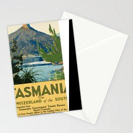 Vintage poster - Tasmania Stationery Cards