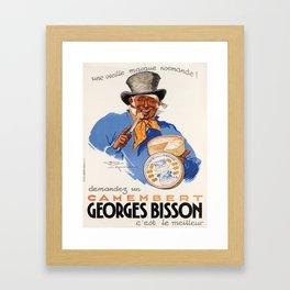 old poster demandez un camembert georges bisson. 1937 Framed Art Print