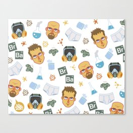 Breaking Bad pattern Canvas Print