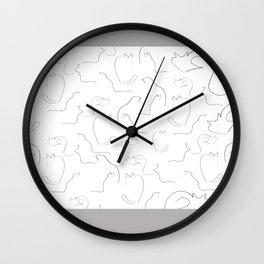 Cats drawing Wall Clock