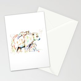 Bear Family - and then there were 3 Stationery Cards