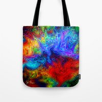 acid Tote Bags featuring Acid by JT Digital Art