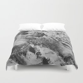 White: Paint Duvet Cover