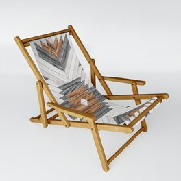 Urban Tribal Pattern No.8 - Aztec - Wood Sling Chair