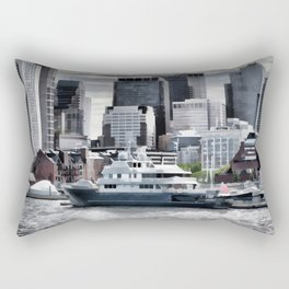 Yachts in Charles River Rectangular Pillow
