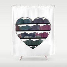 Watercolor Book Heart Shower Curtain