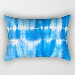 Tie Dye in Blue Rectangular Pillow