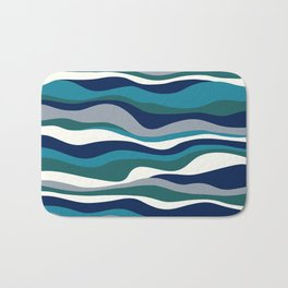 Cordillera Stripe: Teal Navy Combo Bath Mat