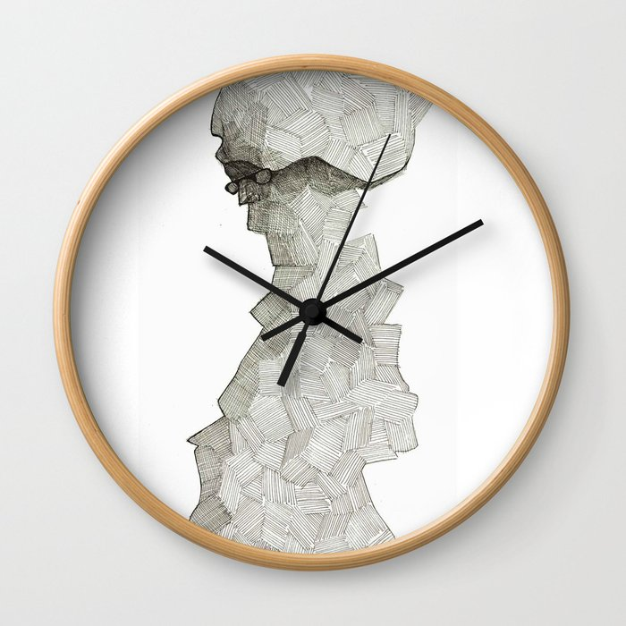 Squared glass Wall Clock