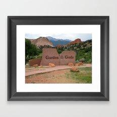 Garden of the Gods - Colorado Framed Art Print