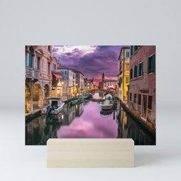 Venice Italy Canal at Sunset Photograph Mini Art Print