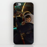 league of legends iPhone & iPod Skins featuring Jayce League of Legends by ARAM Adventures