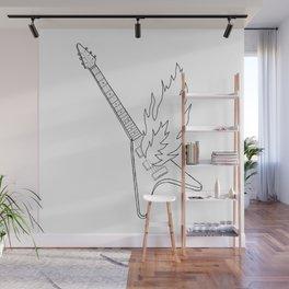 Guitar Black Wall Mural