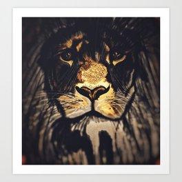 Noble Lion Art Print