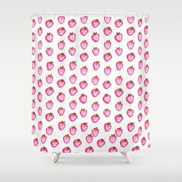strawberry rain Shower Curtain